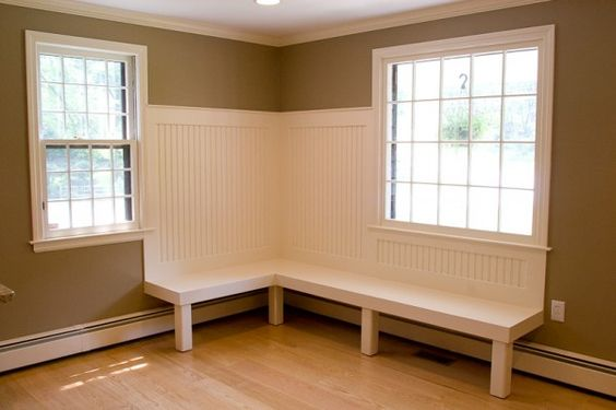 banquette seating over baseboard heater