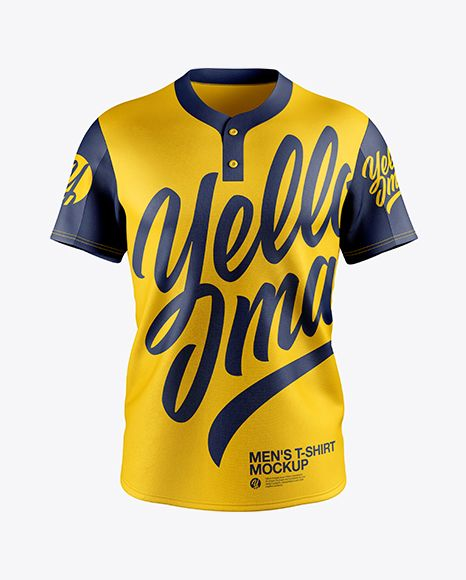 Download Men S Baseball T Shirt Mockup Front View In Apparel Mockups On Yellow Images Object Mockups Shirt Mockup Baseball Tshirts Tshirt Mockup