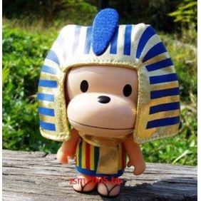 Pharaoh of Egypt fashion big mouth monkey doll money Box.