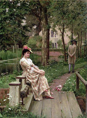 """""""Le refus"""" - Edmund Blair Leighton (1899)"""