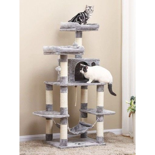 Plush Cat Tower Tree For Big Cats Cat Tower Tree Cat Tower Outdoor Cat House Cat perches for large cats