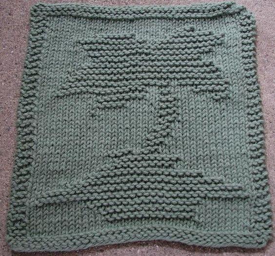 Free Knitting Pattern Tree Dishcloth : The Palm Tree Collection (3 PDF Dishcloth Knitting Patterns) Trees, Dishclo...