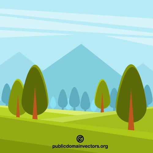 Natural Landscape Clip Art Graphics Public Domain Vectors In 2020 Clip Art Nature Vector Free Clip Art