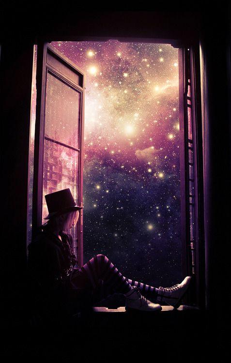Zu viele Sterne und zu viel Galaxymuster, aber von den Farben oben im Himmel im Grunde genommen GENAU das. ♥