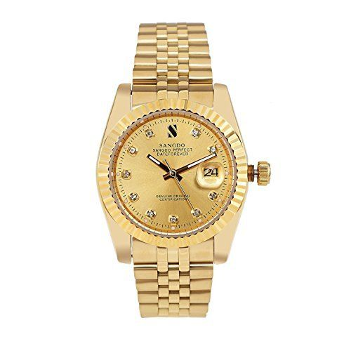 Sangdo Men's with Diamond Round 18k Gold Dial Shell Gold ... http://www.amazon.com/dp/B00NJSUT7Y/ref=cm_sw_r_pi_dp_mr9ixb1STSMCC