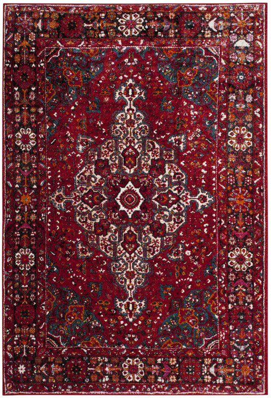 Mcconnell Oriental Red Area Rug With