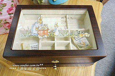 上典家具~PETER RABBIT 彼得兔木頭珠寶盒 比得兔珠寶盒 手飾盒.精美..優雅.附鑰匙