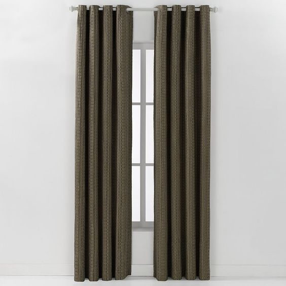 Spencer Spool Weave Curtain,