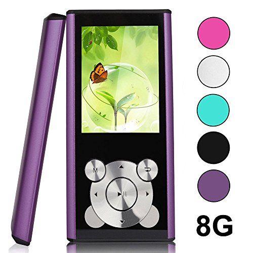 L.D Generation MP3 MP4 8 GB Player avec slot micro SD Card, Portable MP4, Radio FM, E-Book Viewer, Enregistreur vocal (violet)