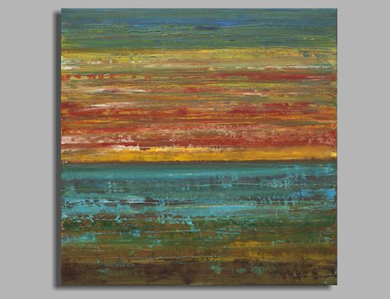 Large ocean sunset painting abstract painting acrylic for Textured acrylic abstract paintings