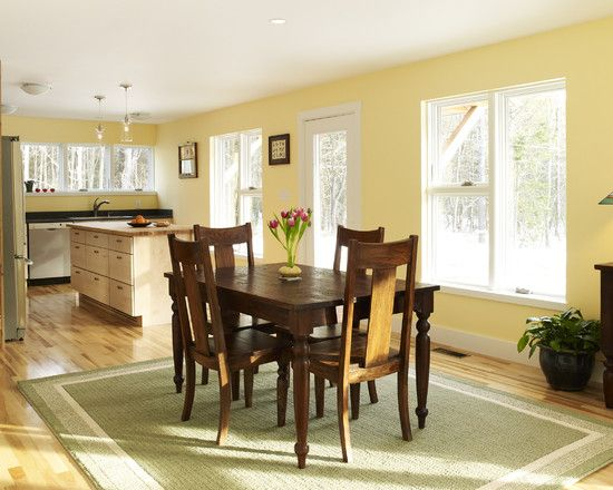 Benjamin Moore - 310 Popcorn Kernel...very  sunny and fresh..love the look..is your trim white?