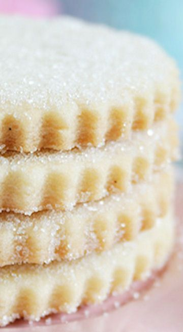 nice Vanilla Sugary Shortbread Cookies Recipe...