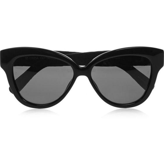 Cat eye elaphe and acetate sunglasses found on Polyvore