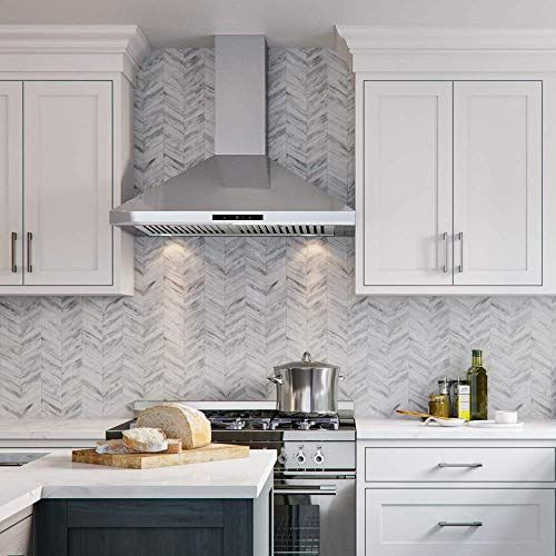 New Cavaliere Range Hood 30 Inch Wall Mount Stainless Steel Kitchen Exhaust Vent 400 Cfm Commercial Grade Baffle In 2020 Kitchen Exhaust Kitchen Vent Kitchen Vent Hood
