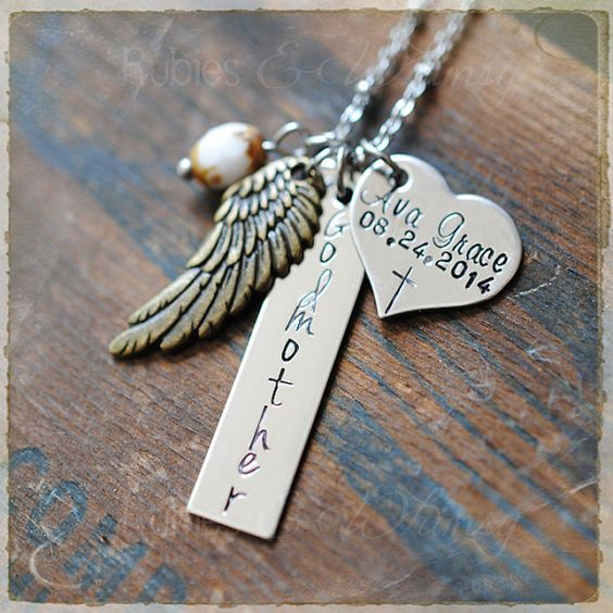 Godmother Personalized Keychain or Necklace by rubiesandwhimsy, $28.00: