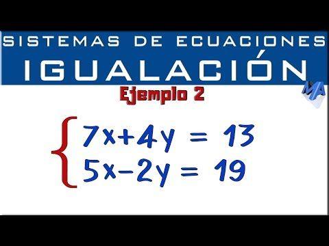 Sistemas De Ecuaciones 2x2 Youtube Sistemas De Ecuaciones Ecuaciones Ejercicios Matematicos Secundaria