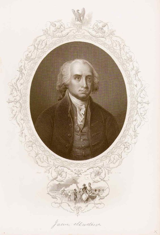 James Madison. Credit Philaprintshop.com