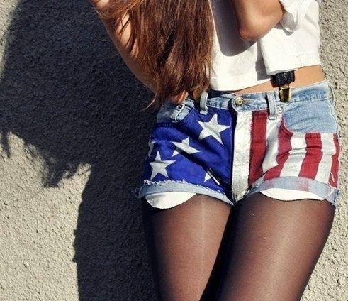 American Flag Shorts by JuliLand
