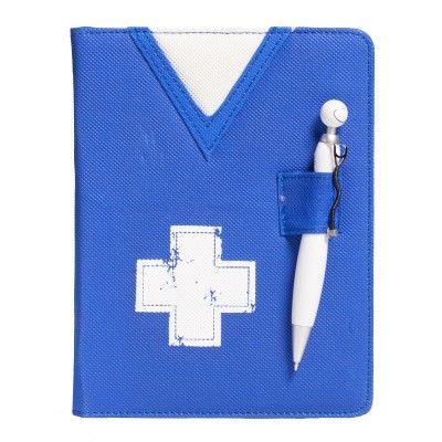 Keep your notes all in one place with this refillable Scrub Notebook with Swanky Stethoscope Pen.