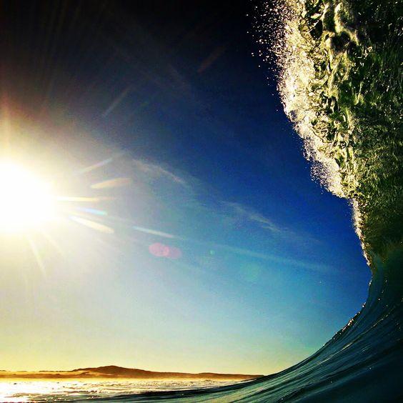 Sun versus wave