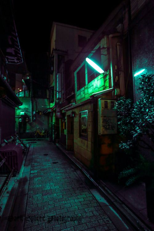 Darkspherephotography Cyber 3 Second Hand Cybernetic And Vat Grown Component District City Aesthetic Night Photography Cyberpunk