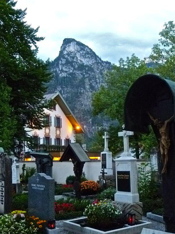 Cementerio en Oberammergau, Alemania.