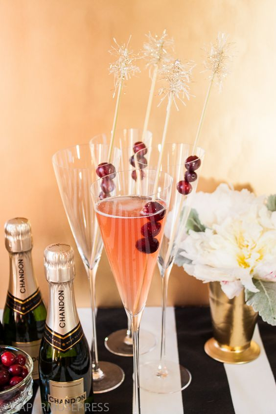 Champagne Cocktail via papermusepress.com #newyearseve #holidays #celebrate: