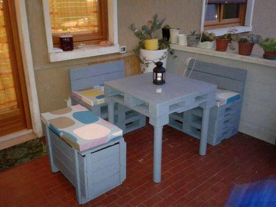 Muebles con palets  Palets  Pinterest