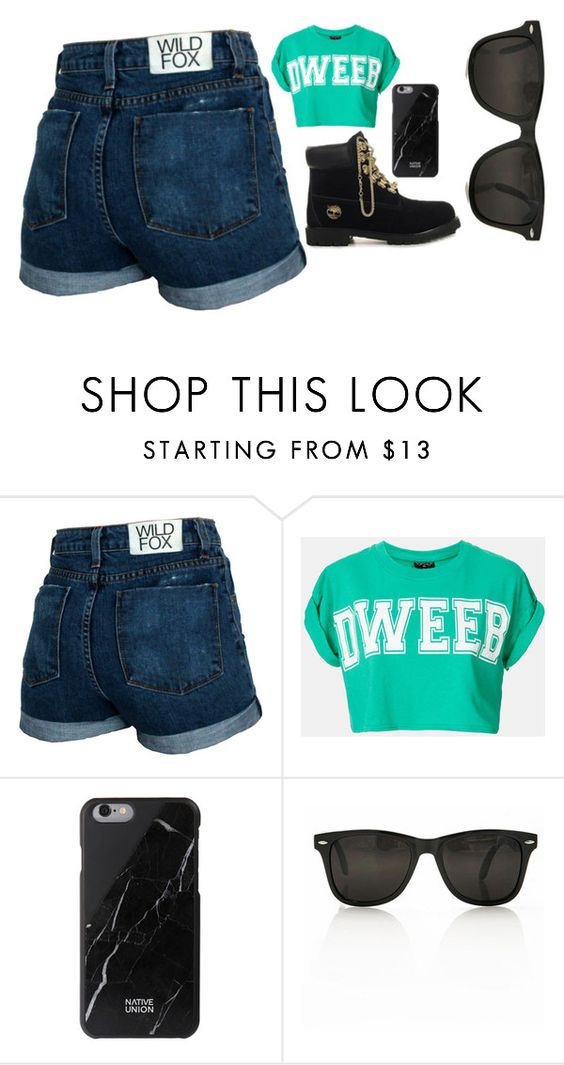 """""""Sin título #414"""" by feelsxharry on Polyvore featuring moda, Wildfox, Topshop, Timberland y Native Union"""