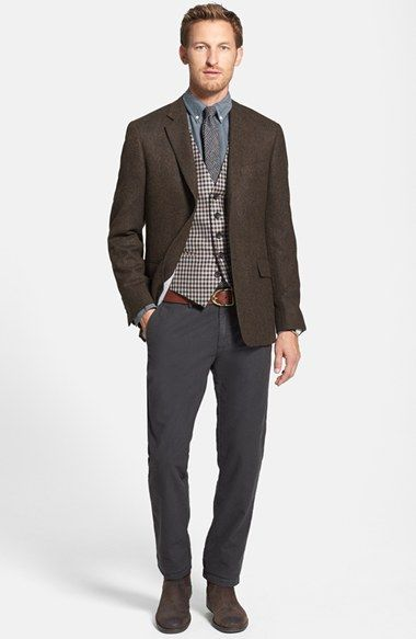 Todd Snyder Tweed Sport Coat Wallin & Bros. Wool Vest & Gant