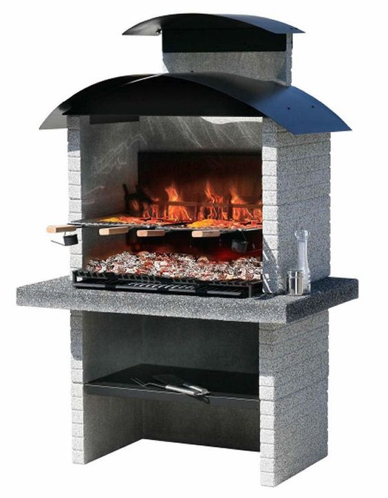 Outdoor cooking homemade grill cooker racks masonry for Fireplace and bbq