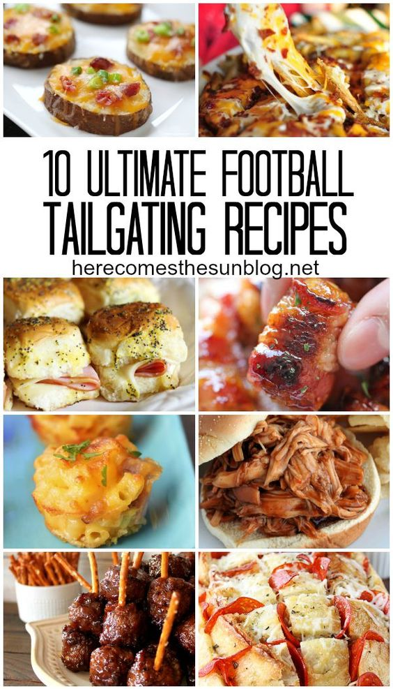 10 Ultimate Football Tailgating Recipes
