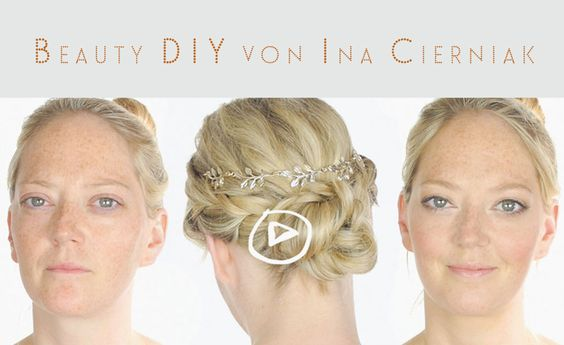 DIY: Natürliches Braut Make-up mit einfach geflochtenem Hair Updo