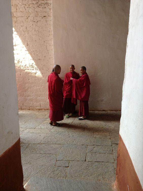Monks @ play.............Bhutan 2014