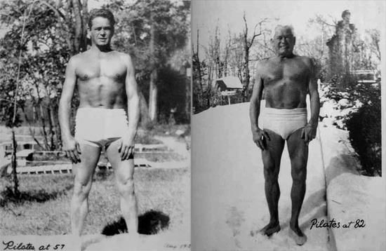 Joseph Pilates at 57 & 82. WOAH. #pilates: