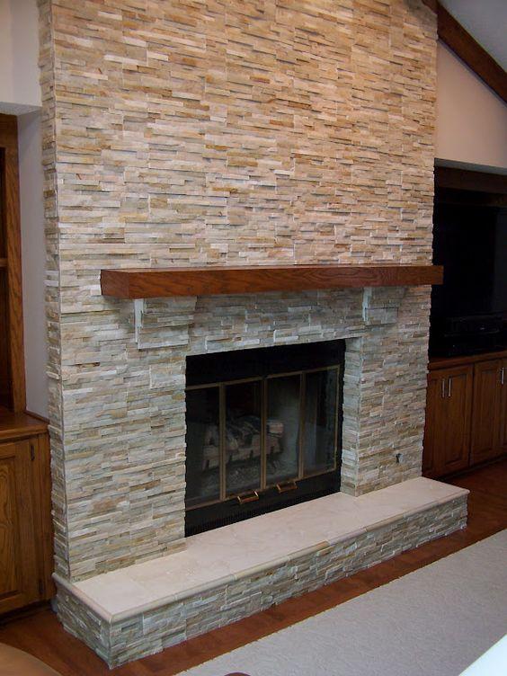Fireplace stone tile basement finish pinterest colors fireplaces and fireplace stone - Fireplace finish ideas ...