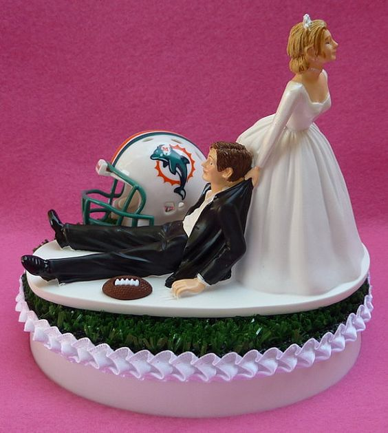 wedding cake toppers miami fl to be miami dolphins and football on 26535