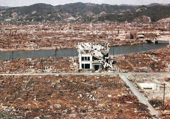 World War II, after the explosion of the atom bomb in August 1945, Hiroshima, Japan. (Photo by: Universal History Archive/UIG via Getty Images) via @AOL_Lifestyle