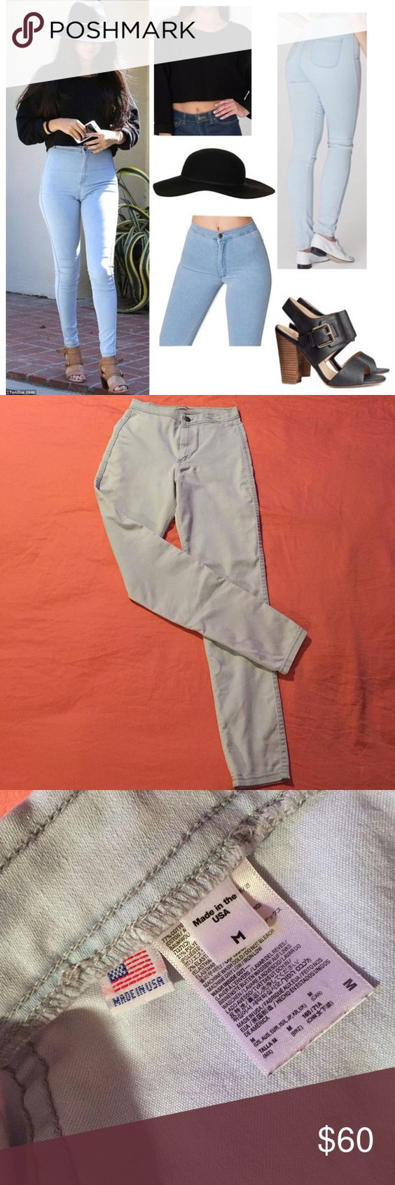 American Apparel Easy Jeans Light Wash Worn only 3 times. In great conditions. Just feel like I'm a little too short for these ; I'm 28 waist and 42 hips. American Apparel Pants Skinny