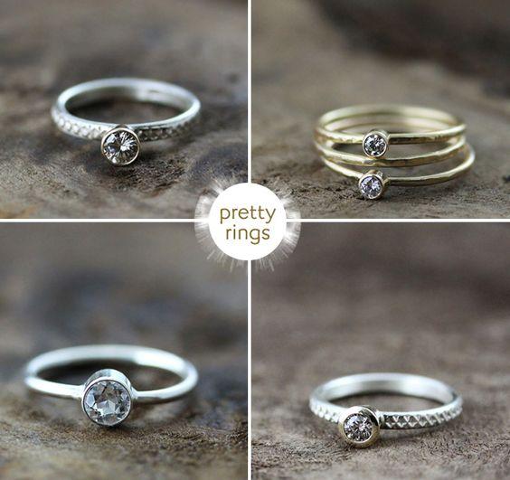 Eco friendly rings from San Francisco designer Andrea Bonelli.