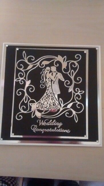 Wedding card using tattered lace and tonic dies