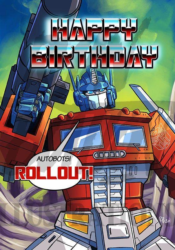Transformers Optimus Prime Birthday Card Transformers Optimus Prime Transformers Optimus Optimus Prime
