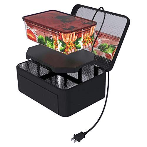 12V Personalized Electric Personal Food Warme Portable Mini Oven for Car Black