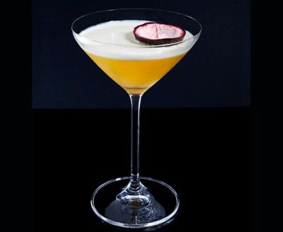 The Event: vodka, vanilla syrup, granadilla, pineapple and lemon juice.