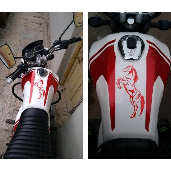 Horse Rearing Decal Sticker For Cars Bikes Laptops Bike