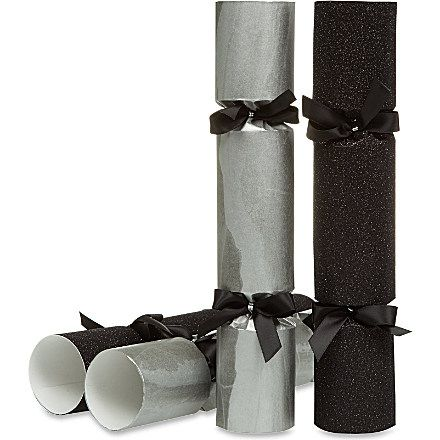 CHRISTMAS Black glitter and marble crackers
