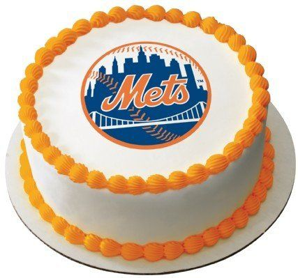 MLB New York Mets ~ Edible Cake Image Topper by A Birthday Place. Save 68 Off!. $7.98. Edible icing art is a great way to make a cake and cupcakes look fantastic and professional. These are an easy and inexpensive way to make your cake look like a masterpiece. All icing images come with instructions . Simply remove the edible icing art from backing and place on top of freshly iced cake or cupcakes. After 15 to 25 minutes the edible icing art will blend with the frosting to give your ca...