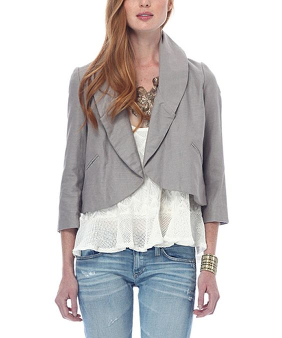 Take a look at this Heartloom Stone Flora Linen-Blend Bolero on zulily today!