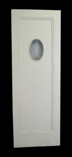Restaurant or Kitchen Antique Swinging Door with Bevelled Glass Oval Window  | eBay