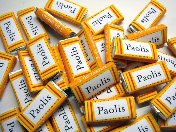 Chocolatines personalizados